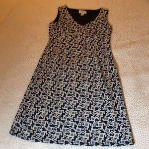 Ann Taylor patterned dress Size OP (petite)